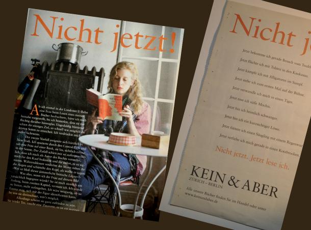 KEIN & ABER: Nicht jetzt!