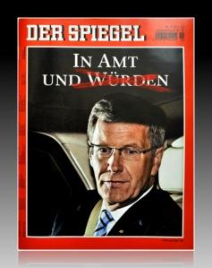 """Der Spiegel streicht Wulff die Würde weg, aus der Valeat-Serie """"Medien machen Wirklichkeit""""."""