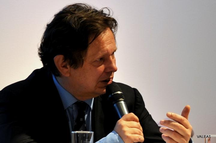 Frank Schirrmacher, gestorben  am 12. Juni 2014. Das Bild zeigt Frank Schirrmacher auf der Frankfurter Buchmesse im Jahr 2012.