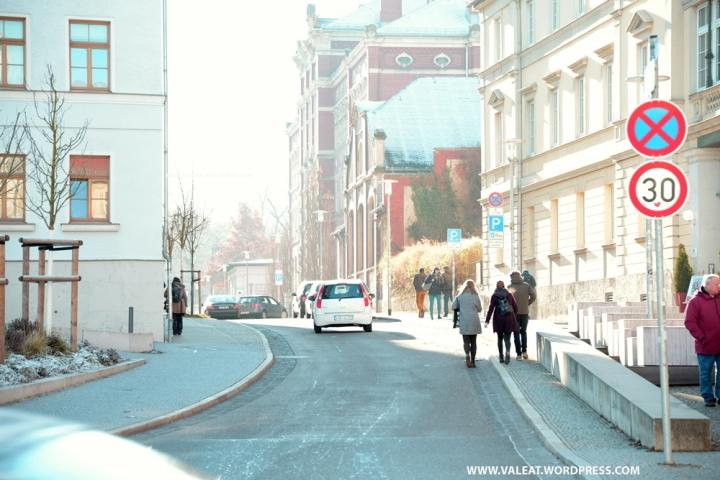 Straße in Weimar. Foto: (c) Valeat.